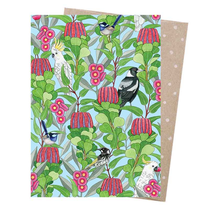 Native Birds Greeting Card