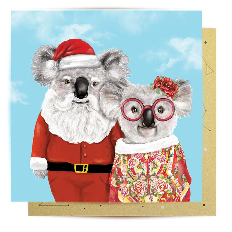 Santa Claus Christmas Card Australian Made La La Land