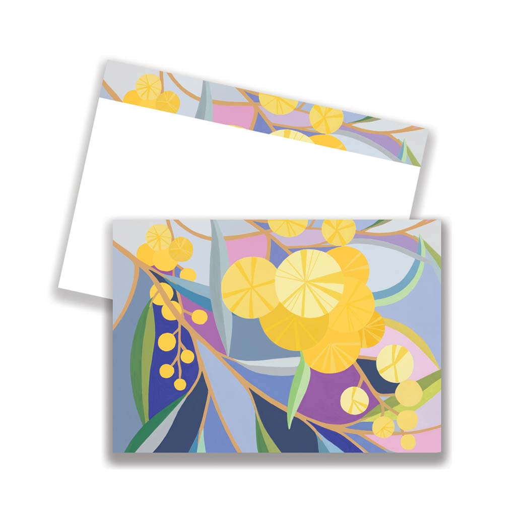 Australia Wattle Notecards Stationery Online
