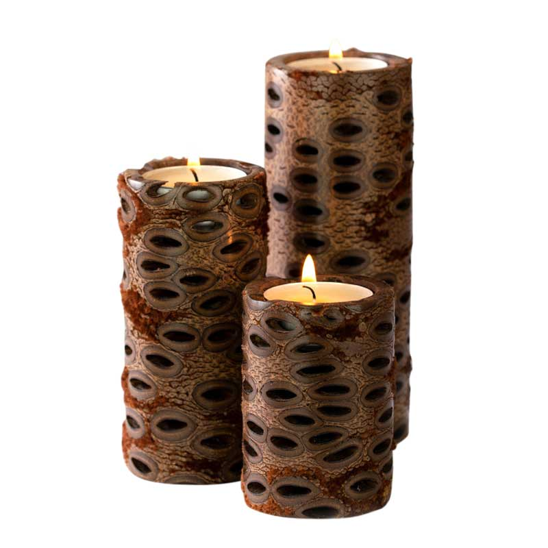Banksia Pillar Tea Lights