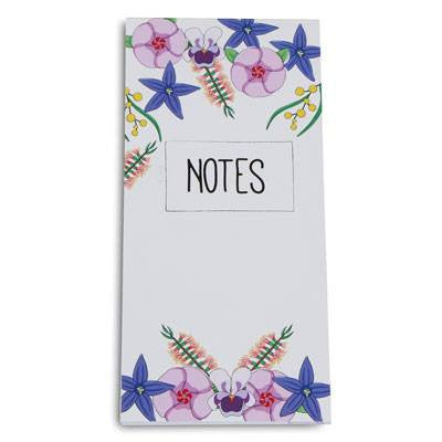 Australian Made Gifts & Souvenirs with the Wildflowers Notepad -by Bits of Australia. For the best Australian online shopping for a Stationery - 1