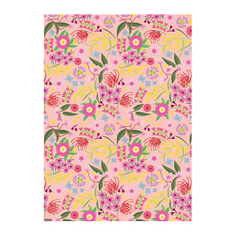 Australian Wrapping Paper Native Flowers Grevillea