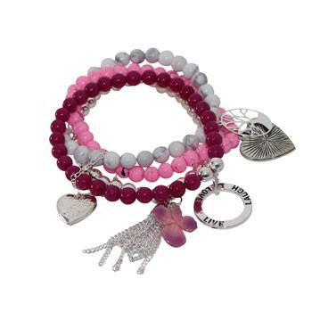 Australian Made Gifts & Souvenirs with the Pink Multi Strand Hydrangea Bracelet -by Marie B Jewellery. For the best Australian online shopping for a Jewellery