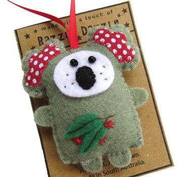 Australian Made Gifts & Souvenirs with the Koala Decoration -by Razzle Dazzle. For the best Australian online shopping for a Fun - 1