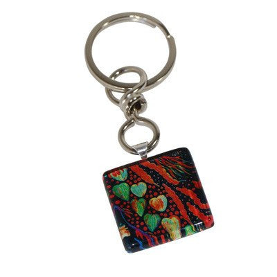 Australian Made Gifts & Souvenirs with the Bush Tucker Keyring -by Simone Dennis. For the best Australian online shopping for a Jewellery