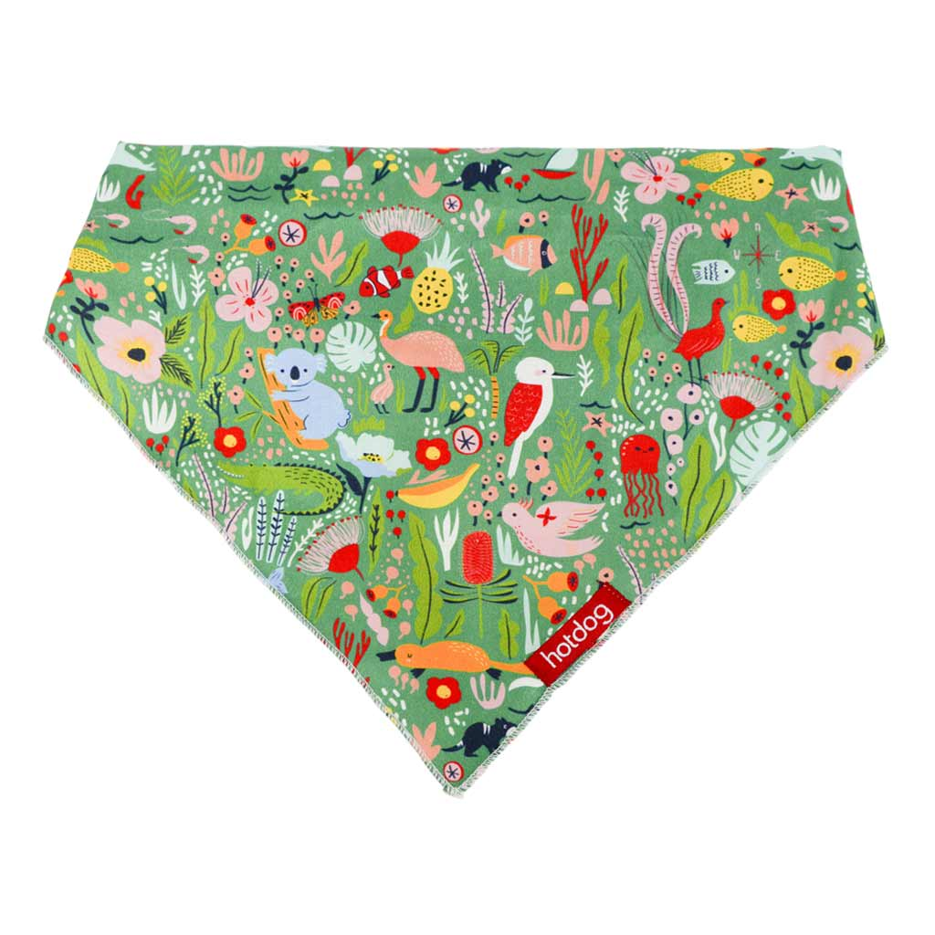 Dog Bandana Australiana Patterns - Koala Kookaburra & More