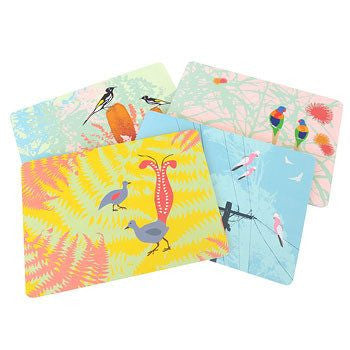 Australian Made Gifts & Souvenirs with the Wings Placemat Pack -by Mokoh Design. For the best Australian online shopping for a Accessories - 2