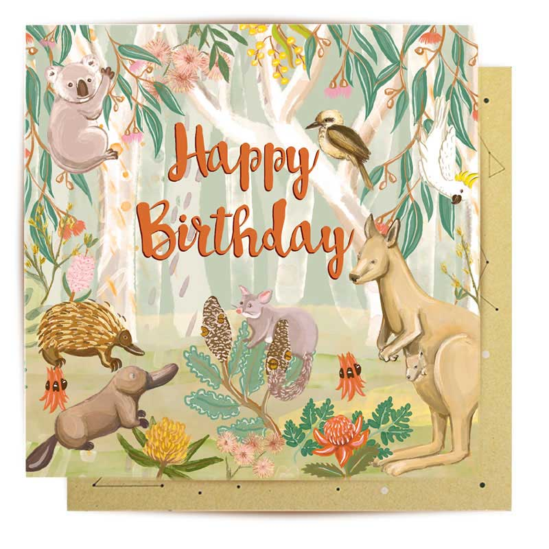 Gifts Australia Birthday Cards - Native Animals