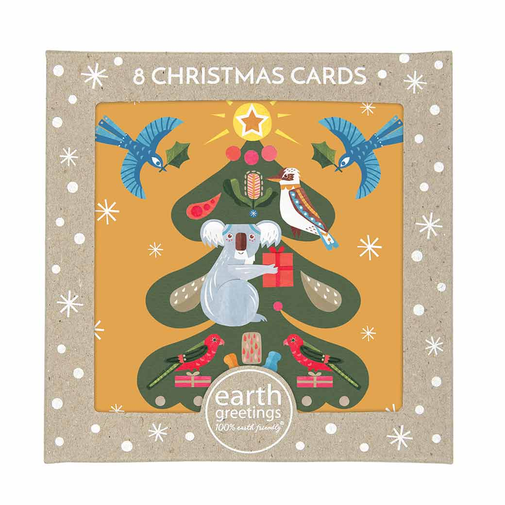 Australiana-Christmas-Card-Pack-Koalas