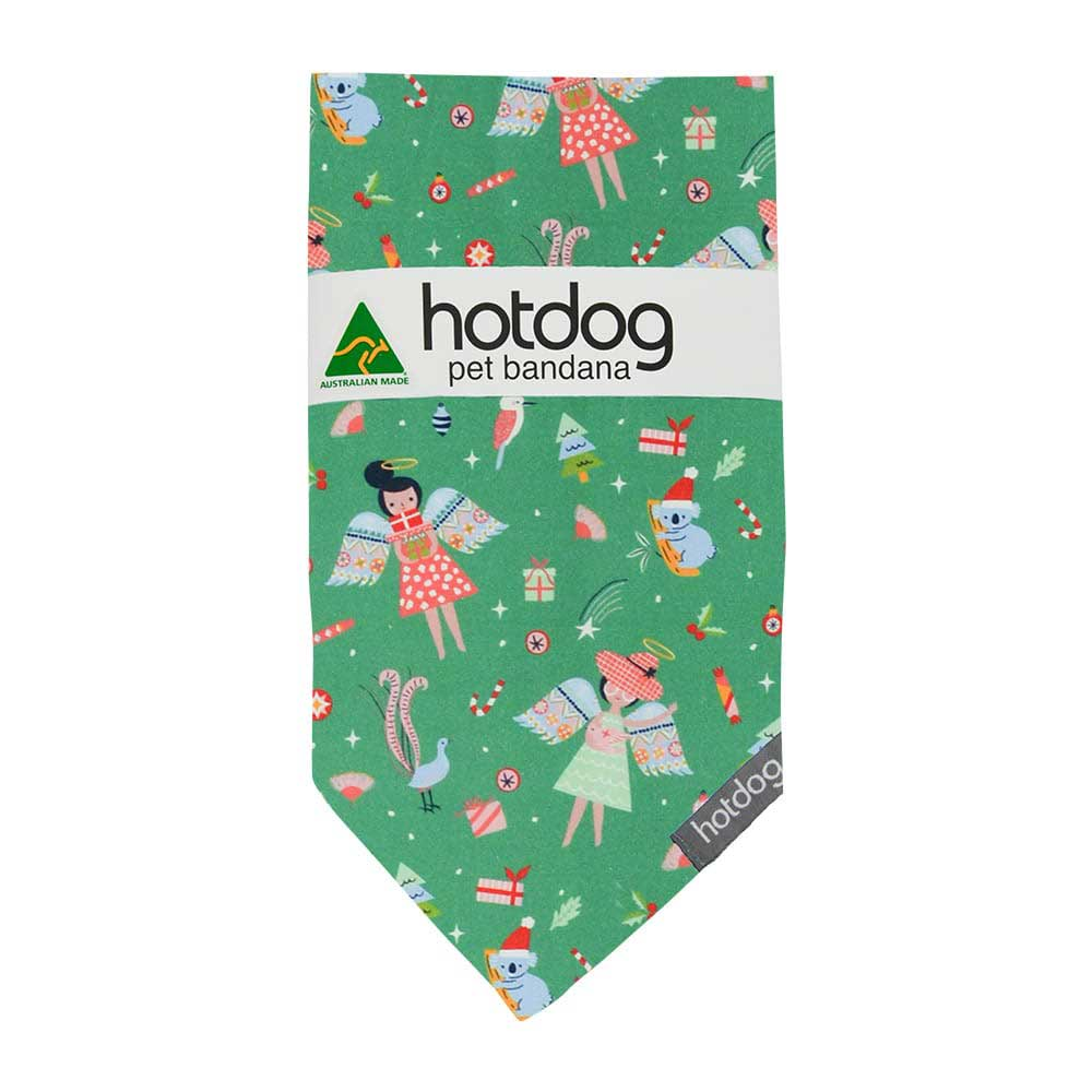 Australiana Christmas Dog Bandana Australian Made Green