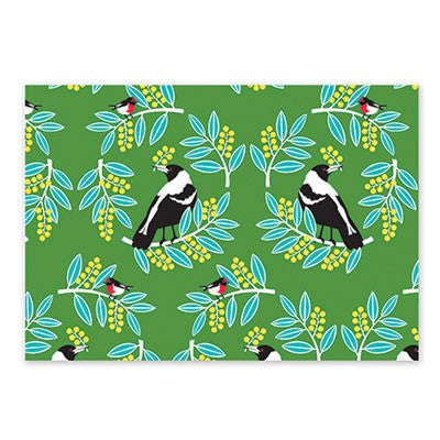 Australian Made Gifts & Souvenirs with the Wattle Friends Wrapping Paper -by Earth Greetings. For the best Australian online shopping for a Wrapping Paper - 1