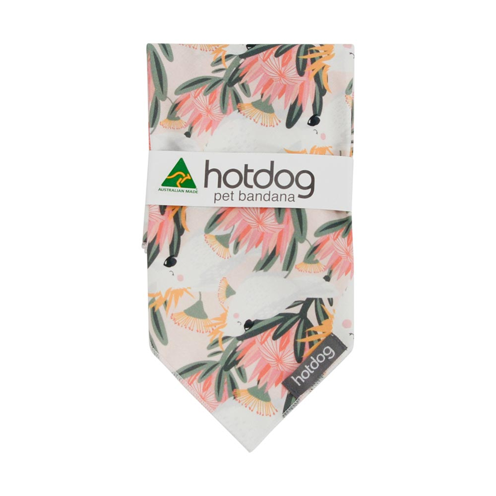 Australiana Cockatoo Dog Bandana Made in Australia Xmas Gifts
