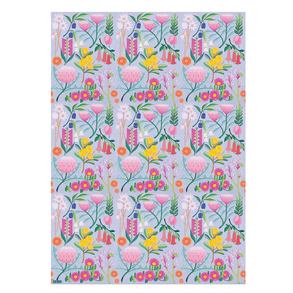 Australian Wild Flowers Wrapping Paper Made In Australia
