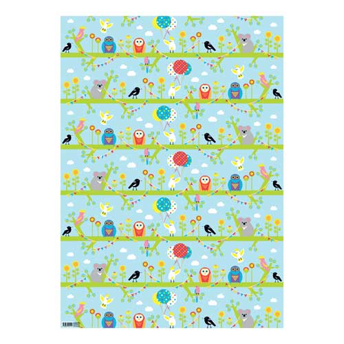 Australian Wedding Gifts For Overseas: Australiana Wrapping Paper For Kids