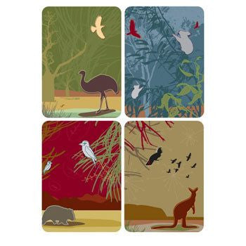Australian Made Gifts & Souvenirs with the Australian Native Animals Magnet Pack Card -by Mokoh Design. For the best Australian online shopping for a Accessories