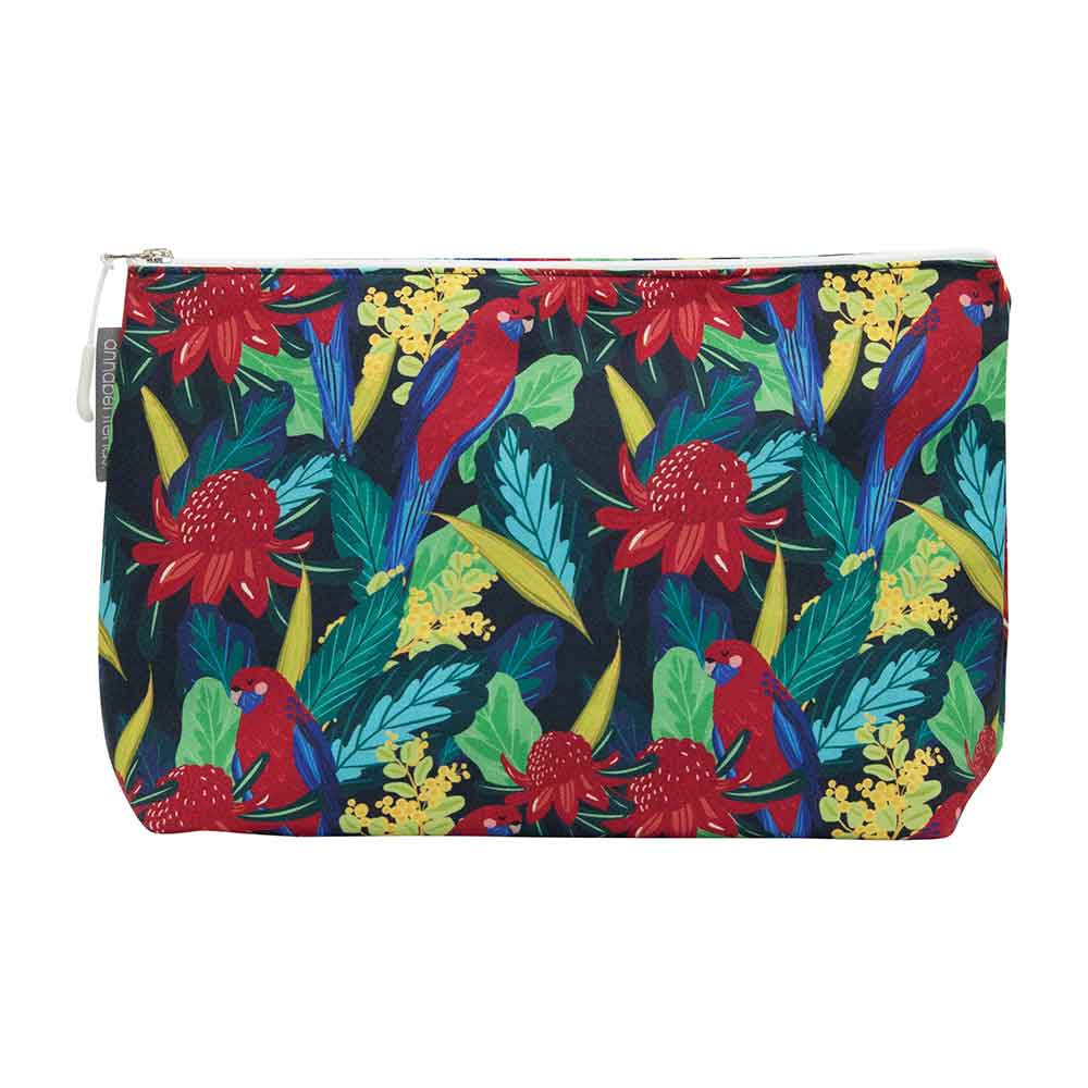 Australiana Large Toiletry Bag Rosella Waratah