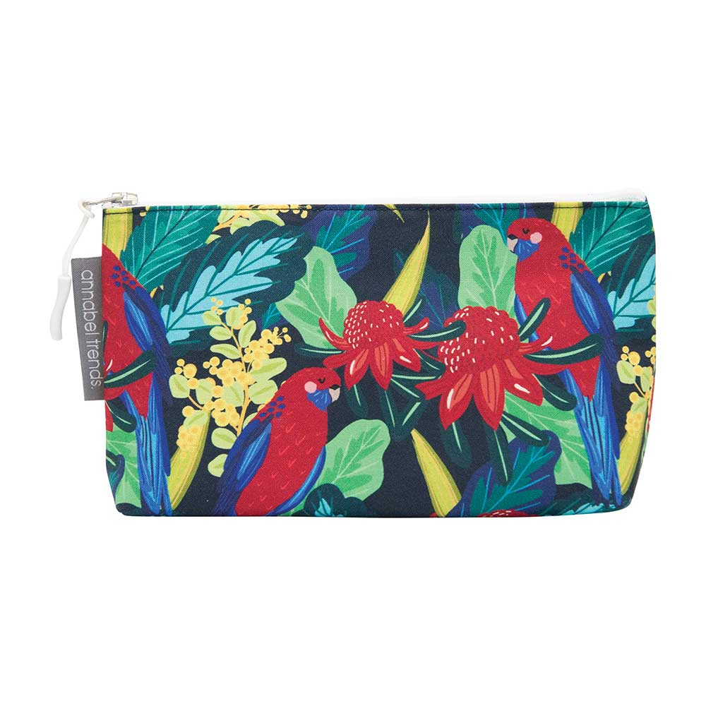 Australiana Small Toiletry Bag Rosella Waratah