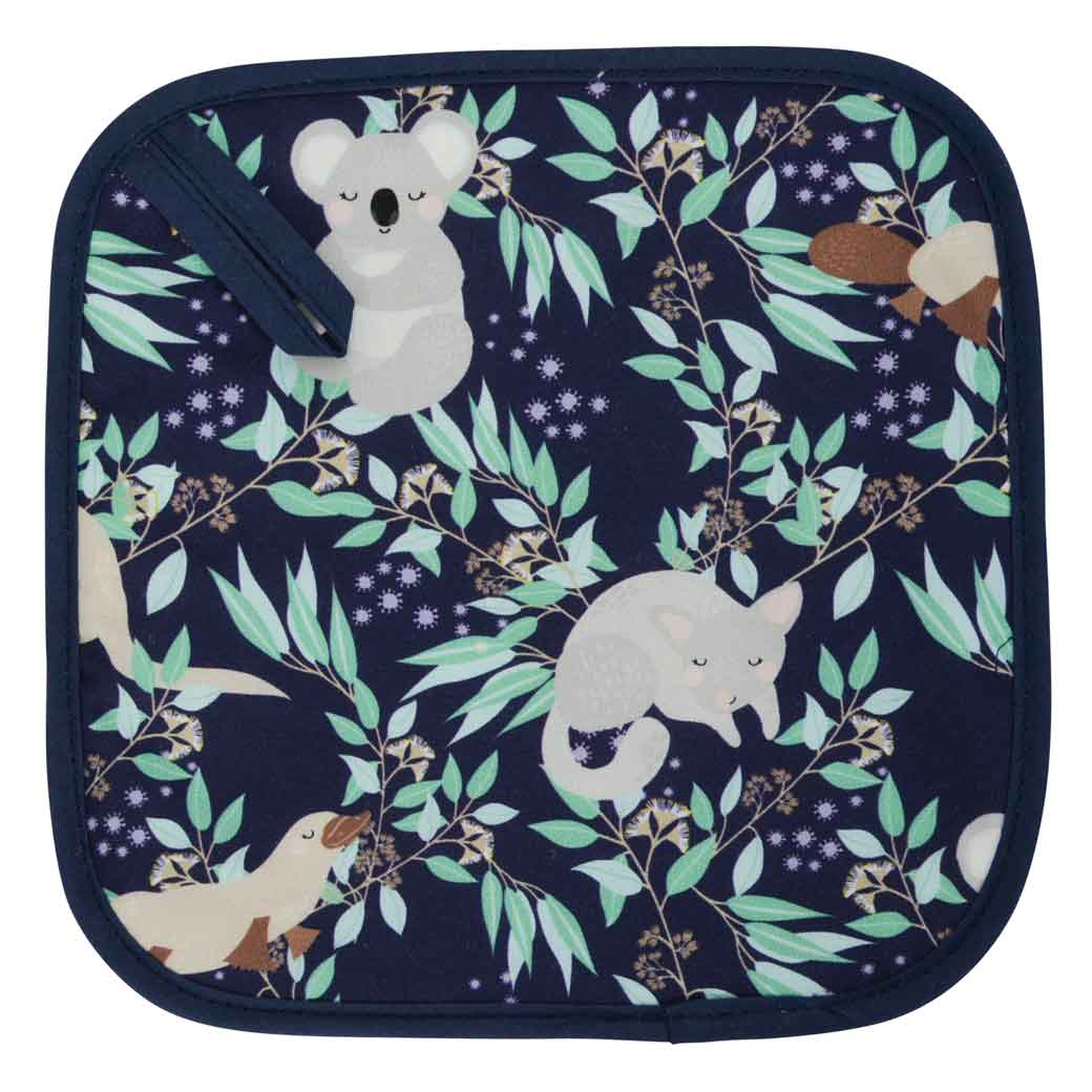 Australiana Souvenirs Pot Holder Aussie Animal Design - Koalas, Kangaroos, Platypus & Possums