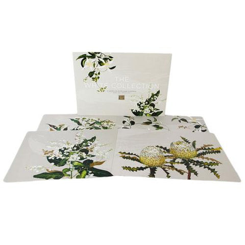 White Collection Wildflowers Placemat Set