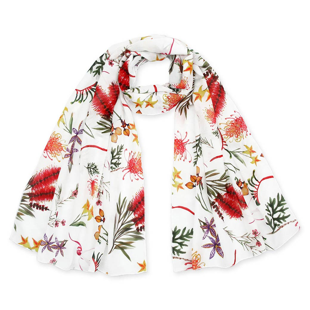 Australia themed gifts - native flowers design scarf