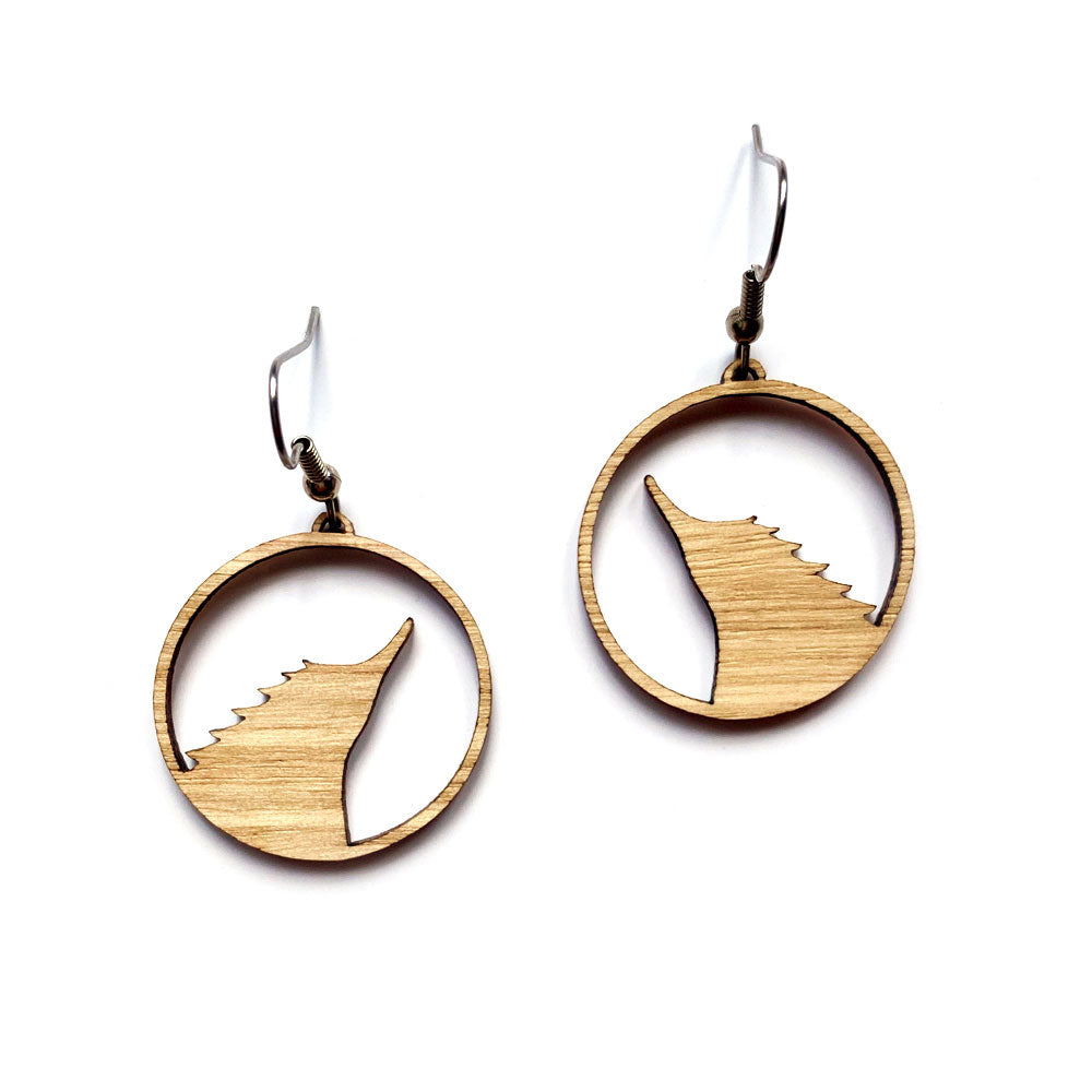 Wooden Echidna Earrings
