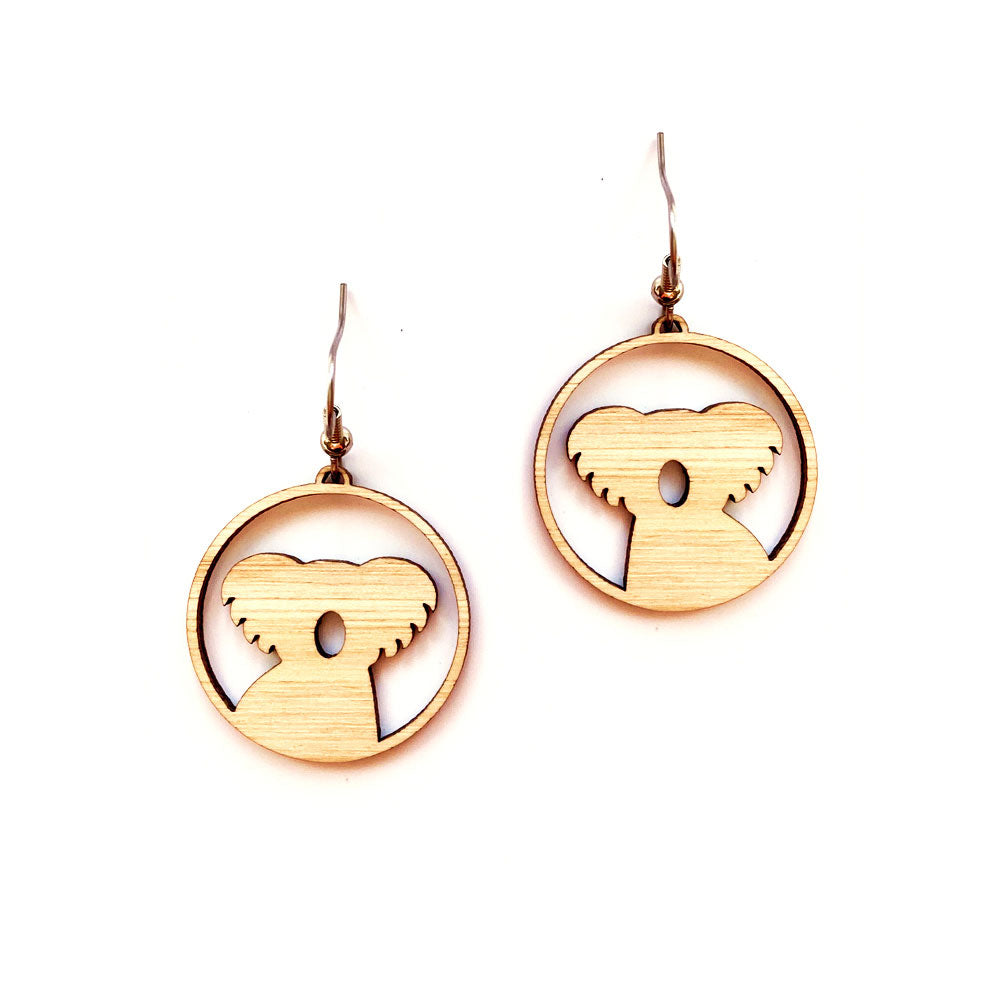 Australiana gifts wooden koala souvenir earrings gifts for girls Australia