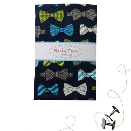 Australian Made Gifts & Souvenirs with the Bow Tie Handkerchief -by Hanky Fever. For the best Australian online shopping for a Handkerchief