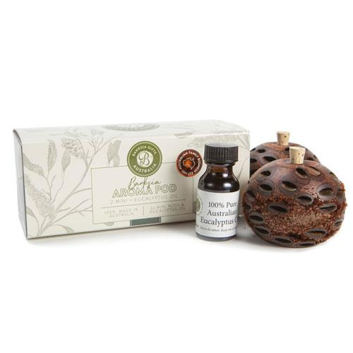 Double Gift Pack Banksia Mini Aroma Pods & Eucalyptus Oil
