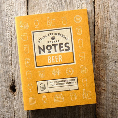 Australian Made Gifts & Souvenirs with the Beer Pocket Notes -by Wood Duck Press. For the best Australian online shopping for a Mens - 1