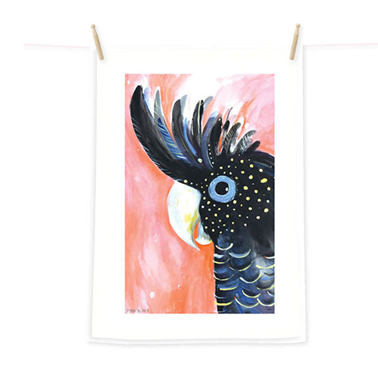 Black-Cockatoo-Australian-Made-tea-towel