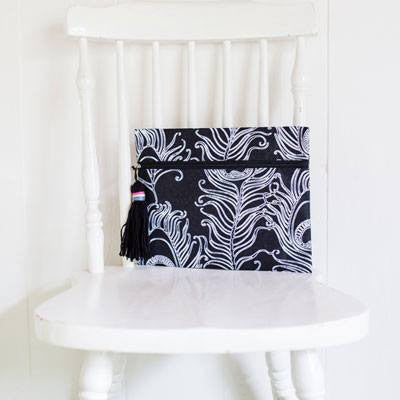 Australian Made Gifts & Souvenirs with the White Feathers Clutch -by Lekkel & Co. For the best Australian online shopping for a Bags