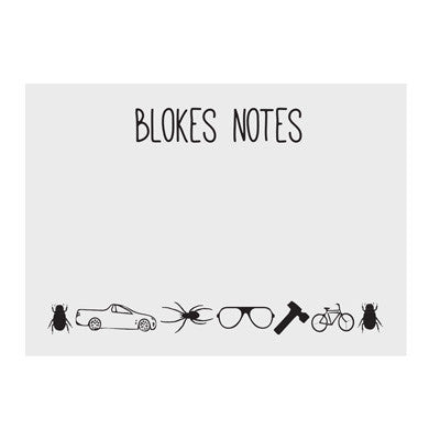 Australian Made Gifts & Souvenirs with the Blokes Notes -by Bits of Australia. For the best Australian online shopping for a Sticky Notes - 1
