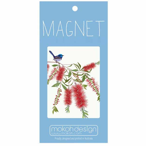 Blue Wren Gifts Australia - Illustrated Souvenir Magnet
