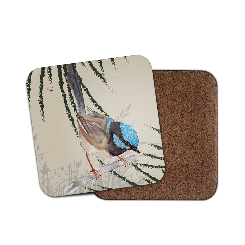 Grasslands Blue Wren Coaster