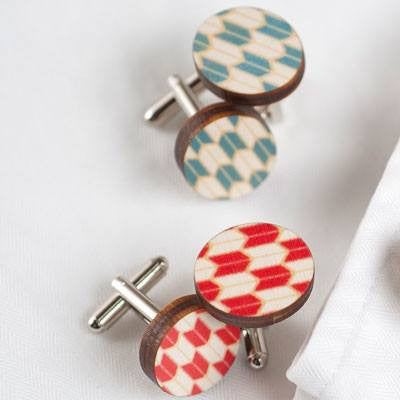Australian Made Gifts & Souvenirs with the Red Origami Cufflinks -by Polli. For the best Australian online shopping for a Accessories - 2