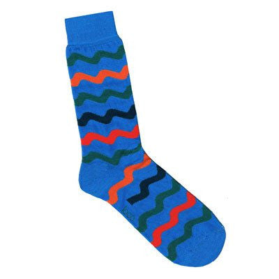Australian Made Gifts & Souvenirs with the Blue Waves Socks -by Loco. For the best Australian online shopping for a Socks