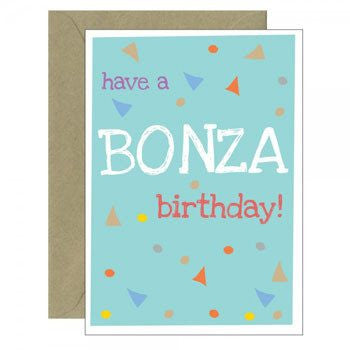 Bonza Greeting Card