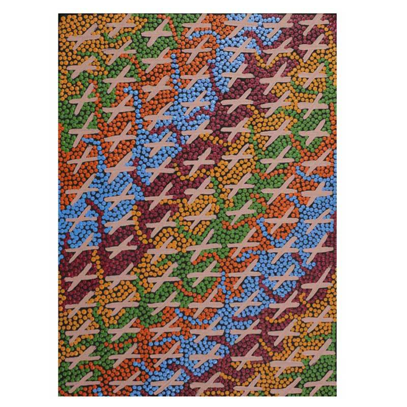 Best Place To Buy Aboriginal Art Sydney - Bits of Australia (Painting Budgerigar Dreaming)