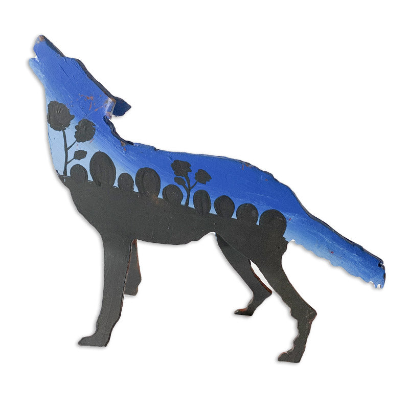 Buy Aboriginal Crafts Online Authentic Australian Hand Painted Metal Desert Dog