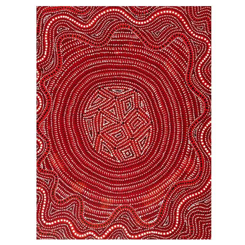 Red Australian Aboriginal Artwork Unique Gifts for Chinese Friends & Family