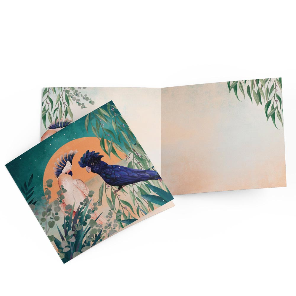 Buy Greeting Cards Online at BitsofAustralia Cockatoos by Vanja Paunovic