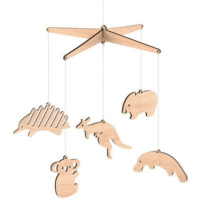 Australian Made Gifts & Souvenirs with the Australian Animals Mobile -by Byrne Woodware. For the best Australian online shopping for a Homewares