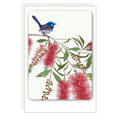 Australian Made Gifts & Souvenirs with the Bluewren Magnet Card -by Mokoh Design. For the best Australian online shopping for a Magnets