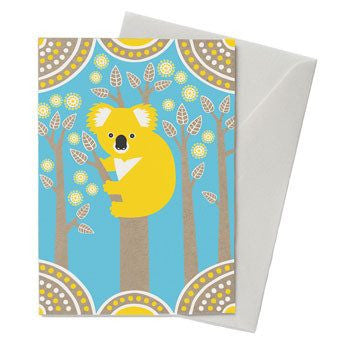 Australian Made Gifts & Souvenirs with the Koala Country Card -by Earth Greetings. For the best Australian online shopping for a Greeting Cards