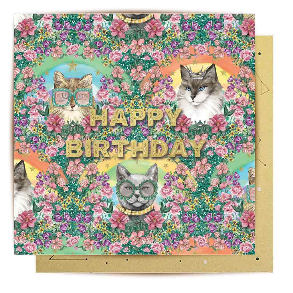 Cat Lovers Birthday Card Australian Made