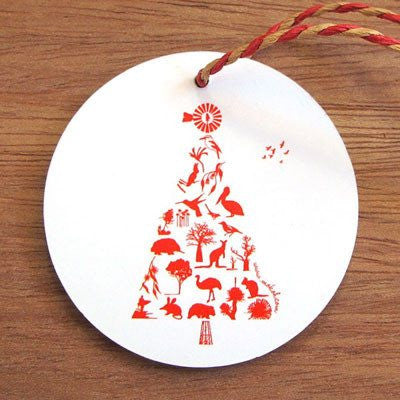 Australian Made Gifts & Souvenirs with the Australian Xmas Tree Decoration -by Mokoh Design. For the best Australian online shopping for a Homewares