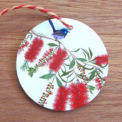 Australian Made Gifts & Souvenirs with the Christmas Wren Decoration -by Mokoh Design. For the best Australian online shopping for a Christmas