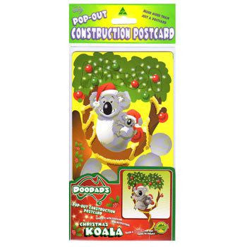 Australian Made Gifts & Souvenirs with the Christmas Koala 3D Construction Postcard -by Odd Ball. For the best Australian online shopping for a Accessories - 2