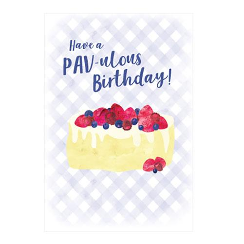 Pavlova Birthday Card