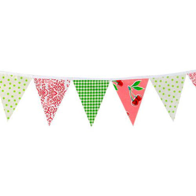 Pink & Lime Oilcloth Bunting